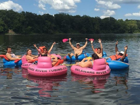 Tubing with Delaware River Tubing in Milford.