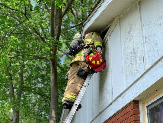 Henderson firefighters battled a blaze on Catalena