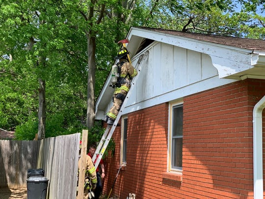 HFD on the scene of a fire on Catalena Drive. A preliminary investigation leads officials to believe it started in or near the kitchen and moved into the attic. (May 1, 2019).