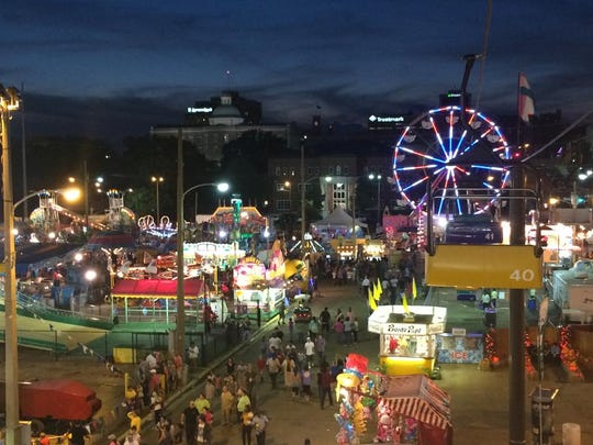 A view from the skylift of the 2014 Mississippi State Fair