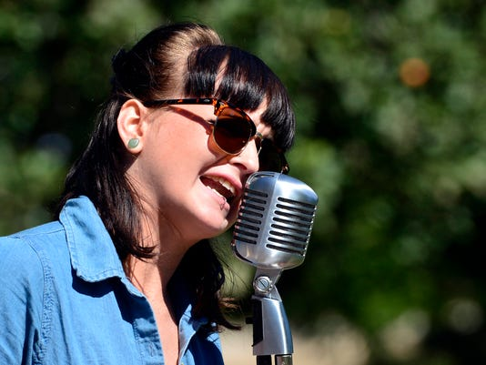 Sadie Swartz of The Ok-Ok's sings during the counter culture, free music for free people Be-In festival at Kiwanis Lake, Sunday September 20, 2015. The Be-In featured music from local artists and food from Health World Cafe. John A. Pavoncello - jpavoncello@yorkdispatch.com