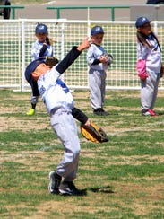 A player is throwing with all of his might.