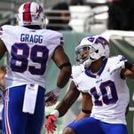 Buffalo Bills wide receiver Robert Woods (10) celebrates after scoring a touchdown during the first quarter against the New York Jets at  MetLife Stadium.