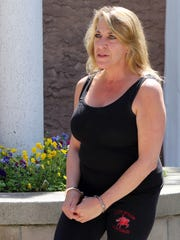 Carol Ressa arrives for her arraignment at Sleepy Hollow
