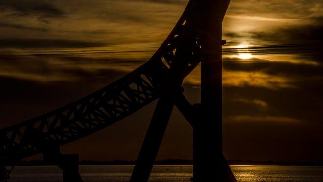 Partial solar eclipse from Cedar Point.