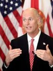 Gov. Rick Scott launched a stinging counter attack