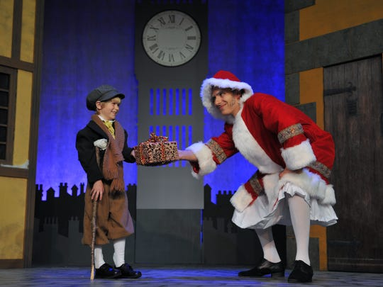 """""""Scrooge! The Musical"""" will be performed at the Titusville Playhouse from November 27-December 20, 2015, with a cast of over 30 actors, including Alexander Nathan, as """"Ebenezer Scrooge"""", and Gabriel Charvet, as """"Tiny Tim""""."""