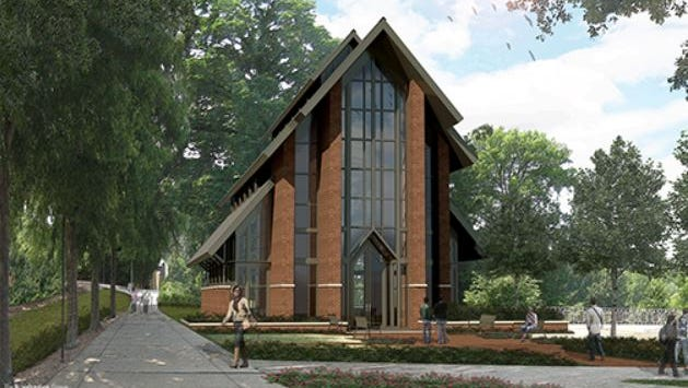 An artist's rendering shows what the Samuel J. Cadden Chapel could look like. Clemson plans to have the nondenominational chapel built by mid-2020.