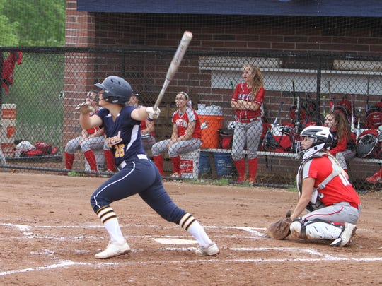 Hartland freshman Delaney Robeson was 2-for-4 with