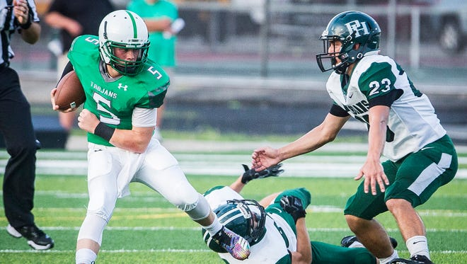 New Castle faced off against Pendleton Heights at New Castle High School Friday, Aug. 31, 2018.