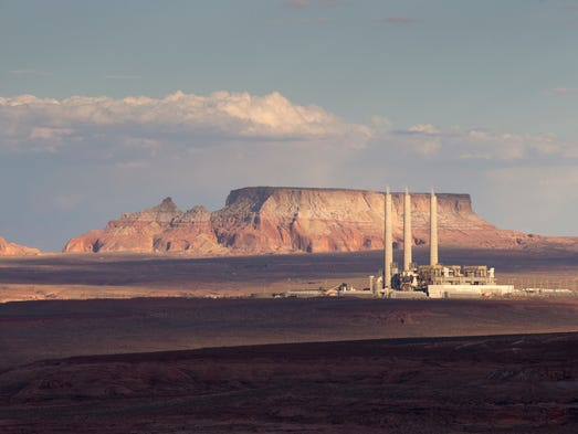 The Navajo Generating Station 130 miles north of Flagstaff
