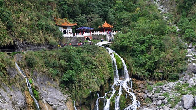 "This temple, only accessible by walking, is located in the Taroko Gorge, on the east coast of Taiwan. Lt. Col. Jeremiah Klomp, NMSU Air Force ROTC commander, will discuss the beauty, history and politics of Taiwan during his upcoming ""Global Connections"" lecture, March 9."