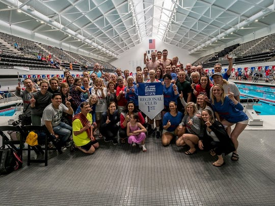 The Wisconsin Masters Aquatic Club captured the championship