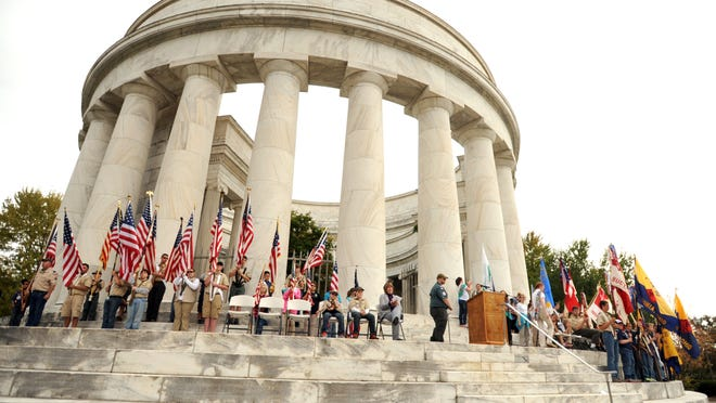 Scouts from Ohio Heartland Girl Scout Council and the Heart of Ohio Boy Scout Council placed wreaths at the Harding Memorial in honor of U.S. President Warren G. Harding and First Lady Florence Kling Harding.