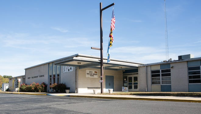 An exterior view of West Salisbury Elementary School, which is slated to be replaced with a newly constructed facility.