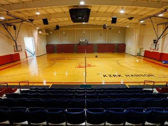 The main gym inside the Forest L. Arnold Activities