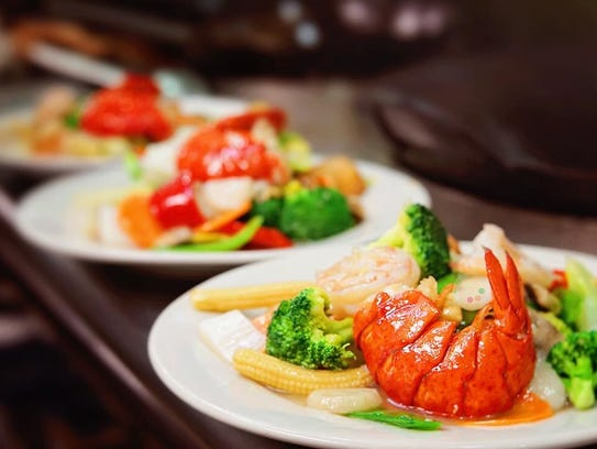 The seafood special, a combination of scallop, shrimp