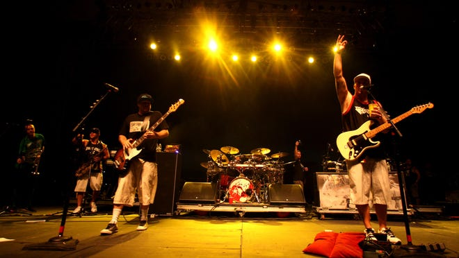 Slightly Stoopid, pictured on the Stone Pony Summer Stage in 2013, return to Asbury Park tonight.