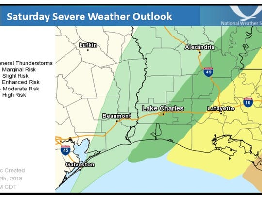 The threat for severe storms will begin late Friday