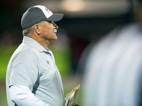 Alcoa head coach Gary Rankin during the game against