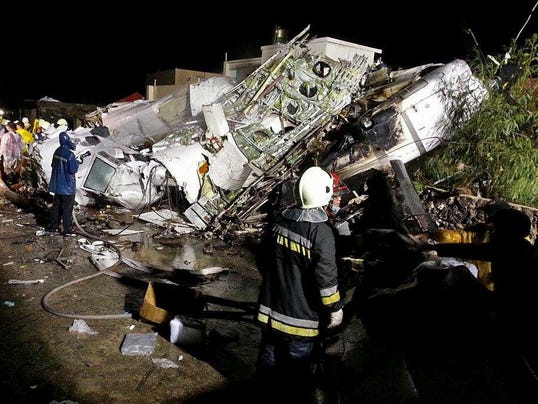 Black boxes of crashed Taiwanese plane carrying 48 people investigated