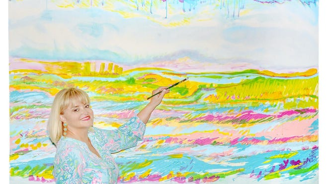 Palm Beach painter Camilla Webster is going full steam ahead despite the coronavirus pandemic.