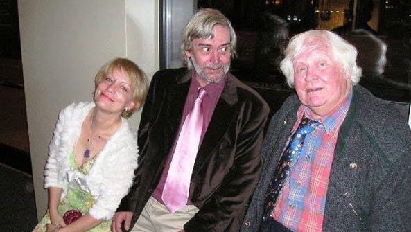 Ken Hanke, center, and filmmaker Ken Russell, right,