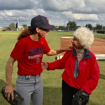 Pitcher Ila Borders helps grow women's baseball at Red Sox women's fantasy camp