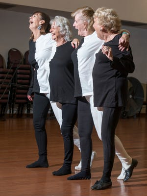 Local talent practice their routine for the Senior Follies comedy variety show at the Bayview Senior Center in Pensacola on Thursday, March 1, 2018.