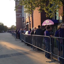 A huge line formed for the Ray Rice jersey exchange.