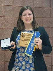 Morgan Fitzsimmons of Iowa County 4-H received her