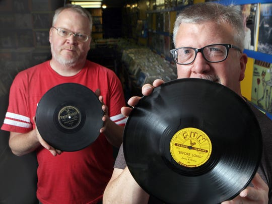 Brothers Darren (left) and Jim Blase, owners of Shake It Records in Northside.