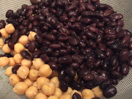 Black beans and garbanzos pack a protein punch.  Beans