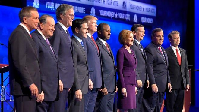 The GOP presidential debate on Oct. 28, 2015.