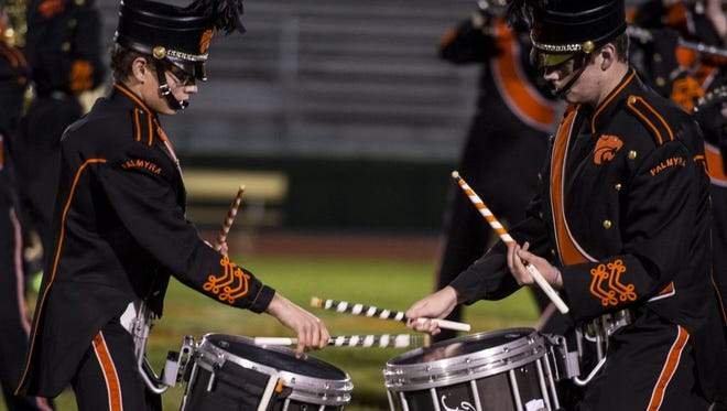 The Palmyra Area High School marching band perform at the Lebanon County Marching Band Exposition on Oct. 10, 2015. Six Lebanon County high schools will perform in the 2016 exposition on Saturday, Oct. 8.