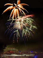 Summer Fest fireworks in Fish Creek last year.