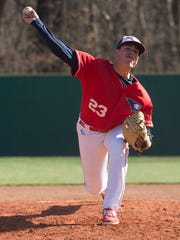 A handful of MLB scouts attended University of Southern Indiana senior Justin Watts' appearances this spring.