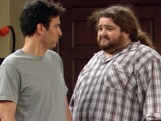 "Jorge Garcia, right, made a cameo as Steve ""The Blitz"" Henry on ""How I Met Your Mother."""