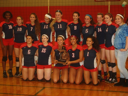 John Glenn's volleyball team poses with its Class A