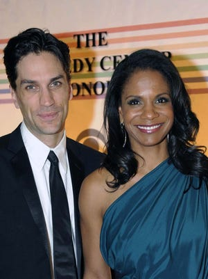 "Audra McDonald and Will Swenson, shown in this 2011 photo at the Kennedy Center for the Performing Arts in Washington, D.C., attended Sunday's matinee performance of ""Les Miserables"" at Eastchester High School. Swenson's son, Bridger, played Inspector Javert, the same role Swenson played in the most recent Broadway revival."