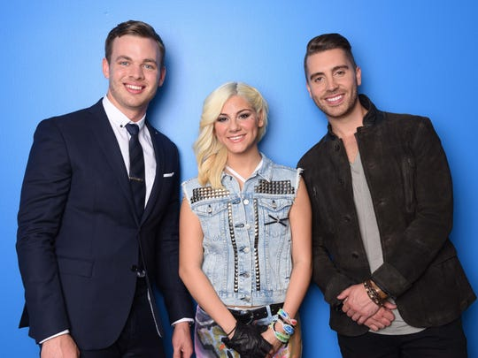 """The Top 3 """"American Idol"""" are (from left) Clark Beckham, Jax and Nick Fradiani. Fradiani took the """"American Idol"""" crown."""