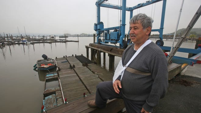 Suren Kilerciyan, owner of Cornetta's Marina in Piermont, photographed May 8, 2014. Kilerciyan is circulating a petition among boaters, marina owners and advocates who want Tappan Zee Constructors to dredge a passage from Piermont to the main channel of the Hudson. They say it's virtually impossible to get boats out during low tide because of the amount of silt in that area.