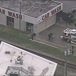 A car wash employee is dead after being struck by a train in the 100 block of Chenoweth Lane.