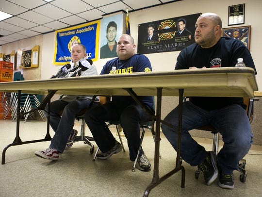 Members of the Wilmington Association of Fire Fighters