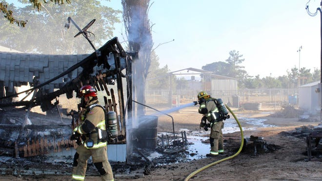 San Bernardino County Fire Department personnel responded to a a structre fire in 10700 block of Riggins Road at approximately 6:45 a.m. Sunday morning.