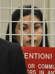 Jessica Navarro at a July court appearance on charges