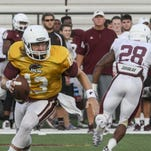 ULM head coach Todd Berry named Smith (13) the starting quarterback for the season opener against Georgia.