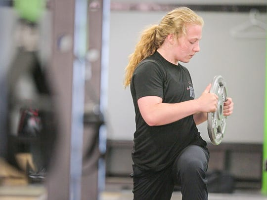 Macey Kilty works out at Limitless Bootcamp in Marshfield on June 5, 2017 in Marshfield, Wis.
