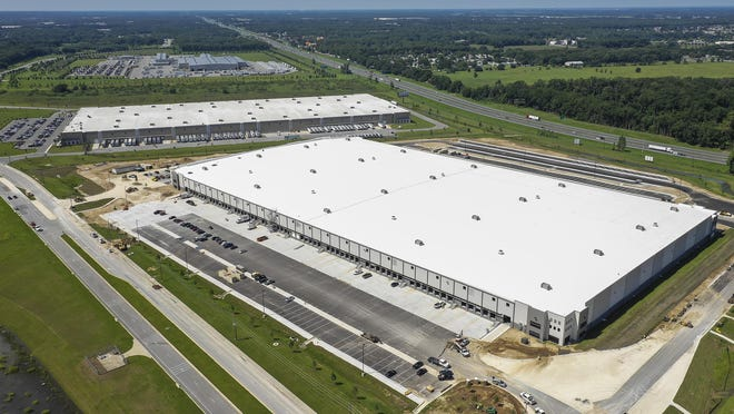 The future home of an Amazon fulfillment center in Ocala, shown in this file photo, recently sold for $58 million.
