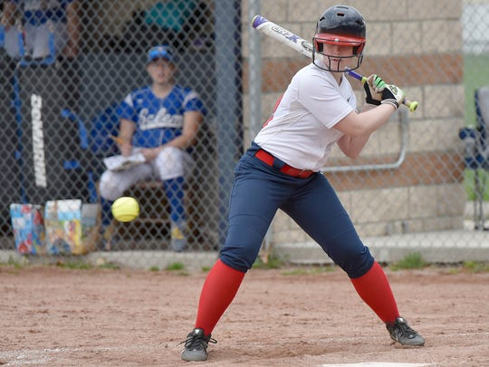 Livonia Franklin's Lauren D'Angelo gets ready to swing